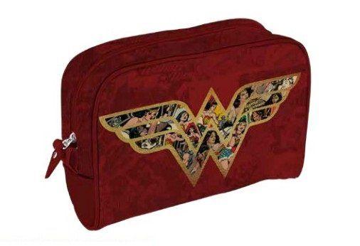 Necessaire Logo Mulher-Maravilha (Wonder Woman): DC Comics (Vermelho)