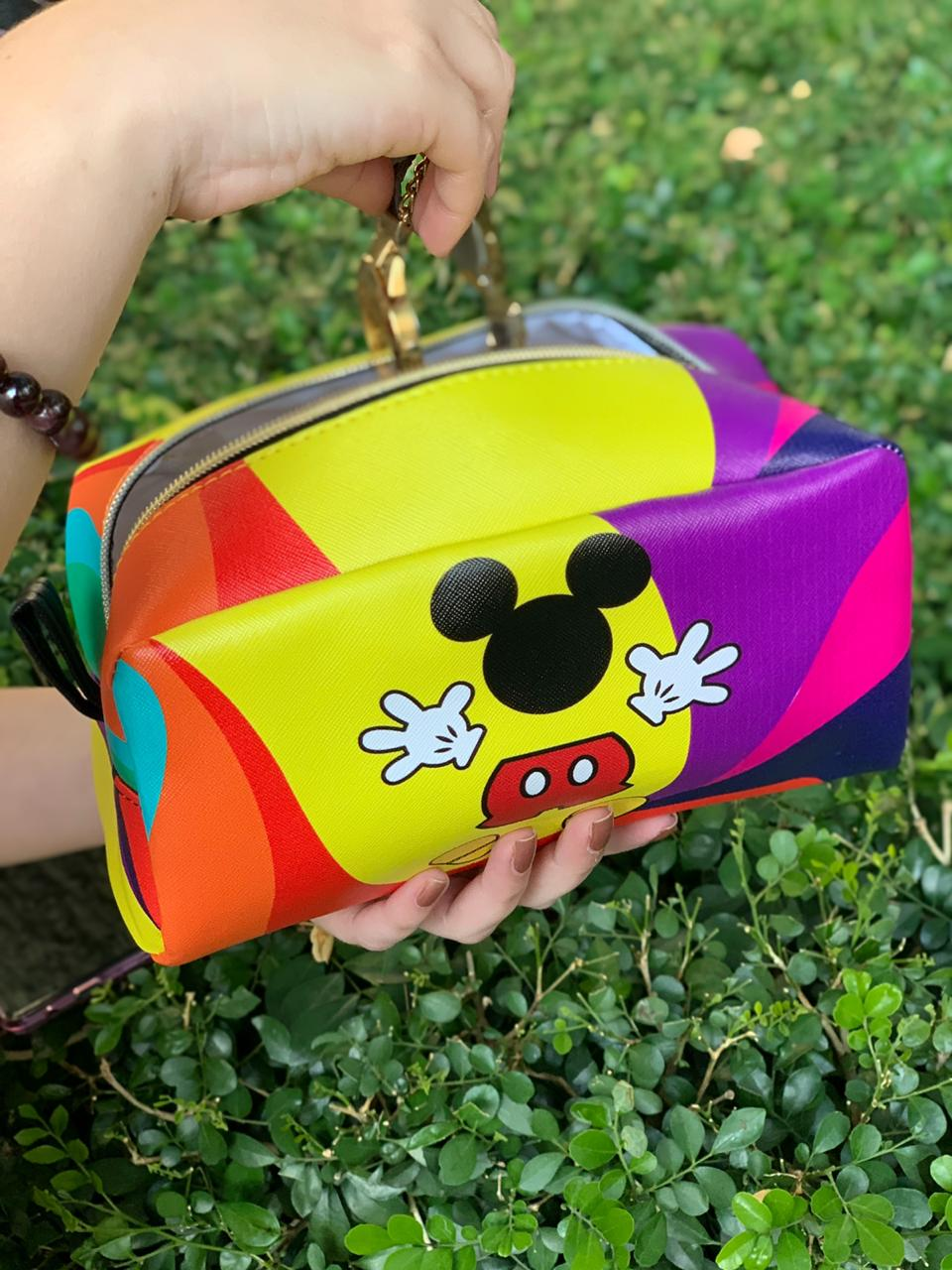 Necessaire Mickey e Minnie Mouse (Colorida) - Disney