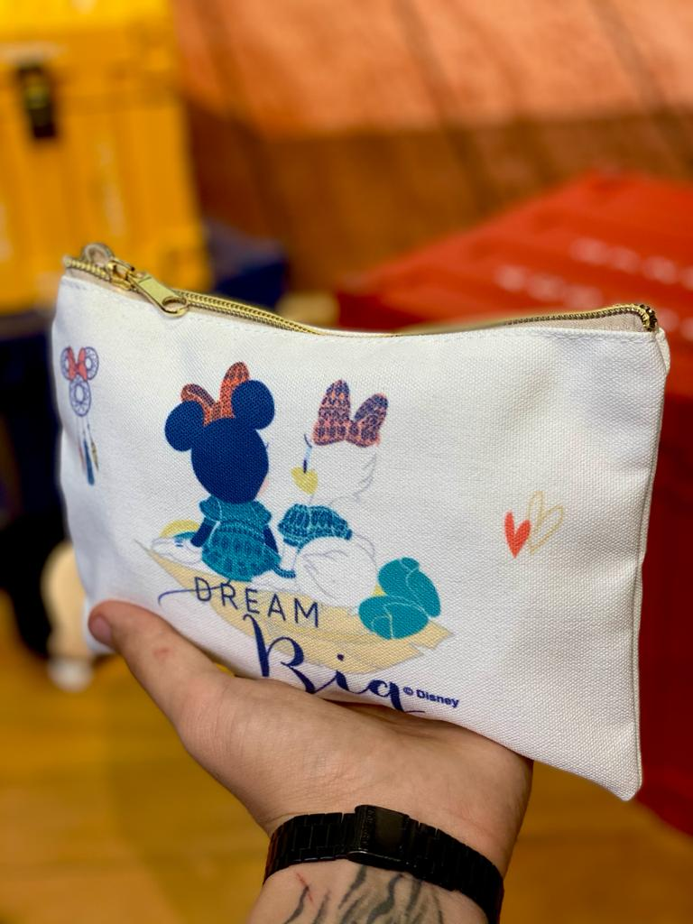 Necessaire Minnie e Margarida (Branco): Minnie Mouse - Disney