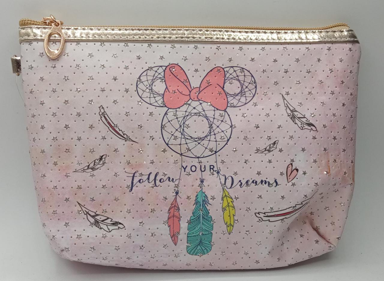 Necessaire Minnie Mouse Follow Your Dream - Disney (Grande)