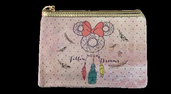 Necessaire Minnie Mouse: ''Follow Your Dream'' (Rosa) - Disney (Médio)