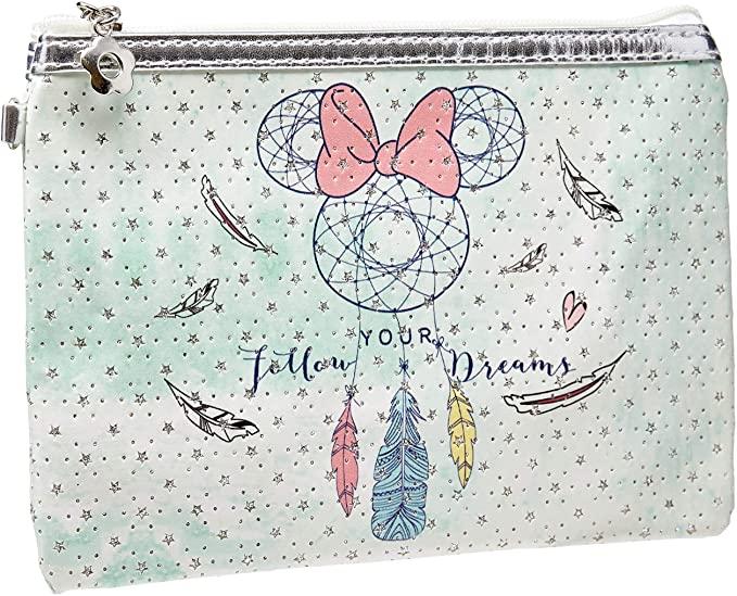 Necessaire Minnie Mouse: ''Follow Your Dream'' (Verde) - Disney (Médio)