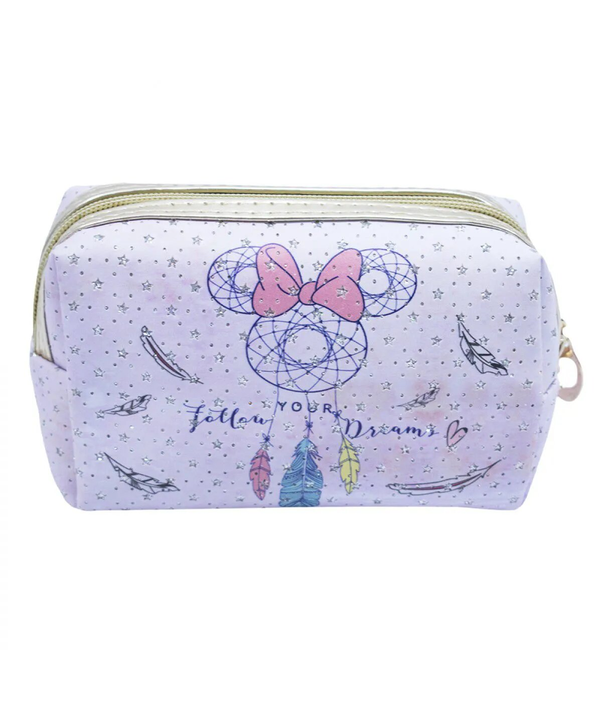 Necessaire: Minnie Mouse ''Follow Your Dreams'' Rosa (Pequena) - Disney