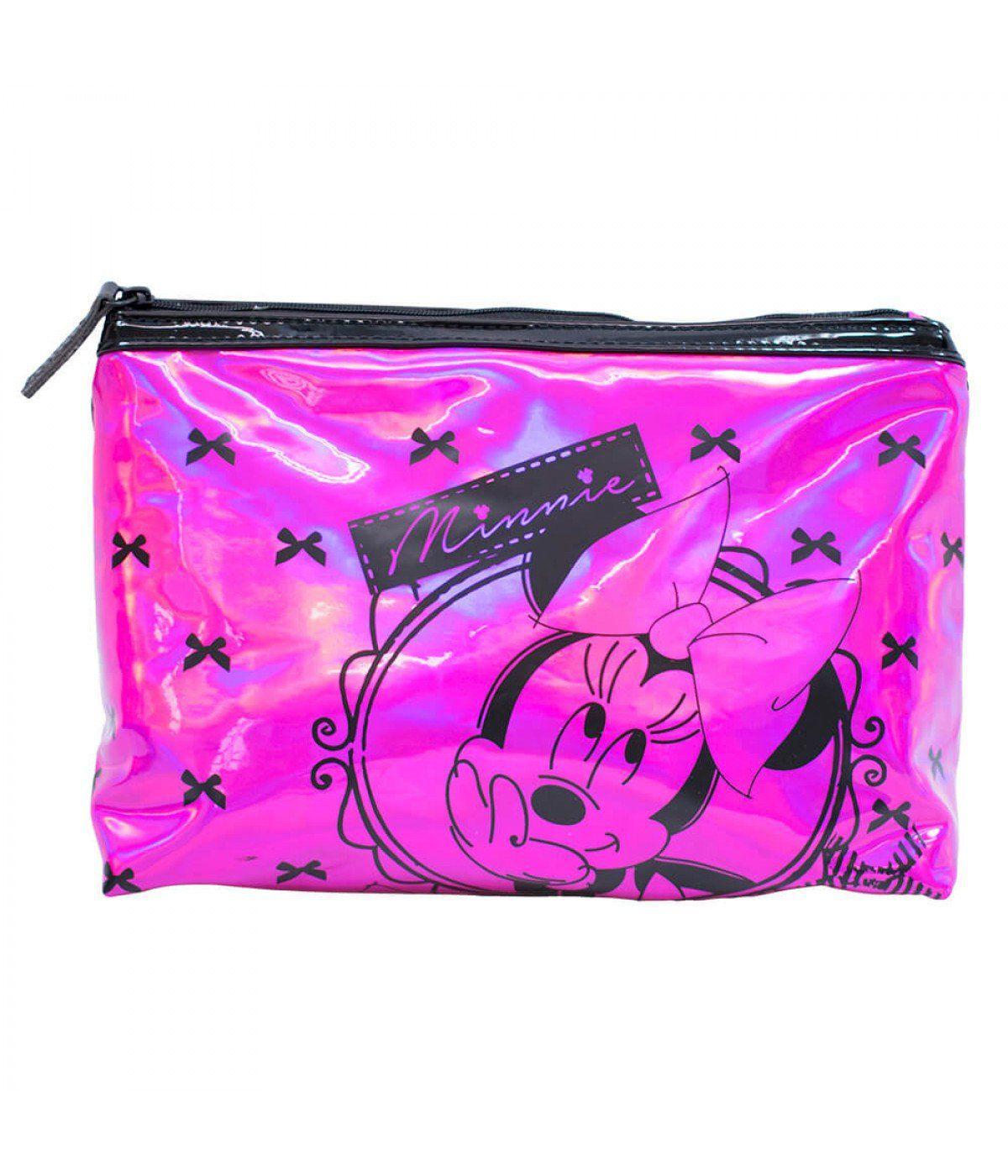 Necessaire Minnie Mouse (Pink e Preto): Disney