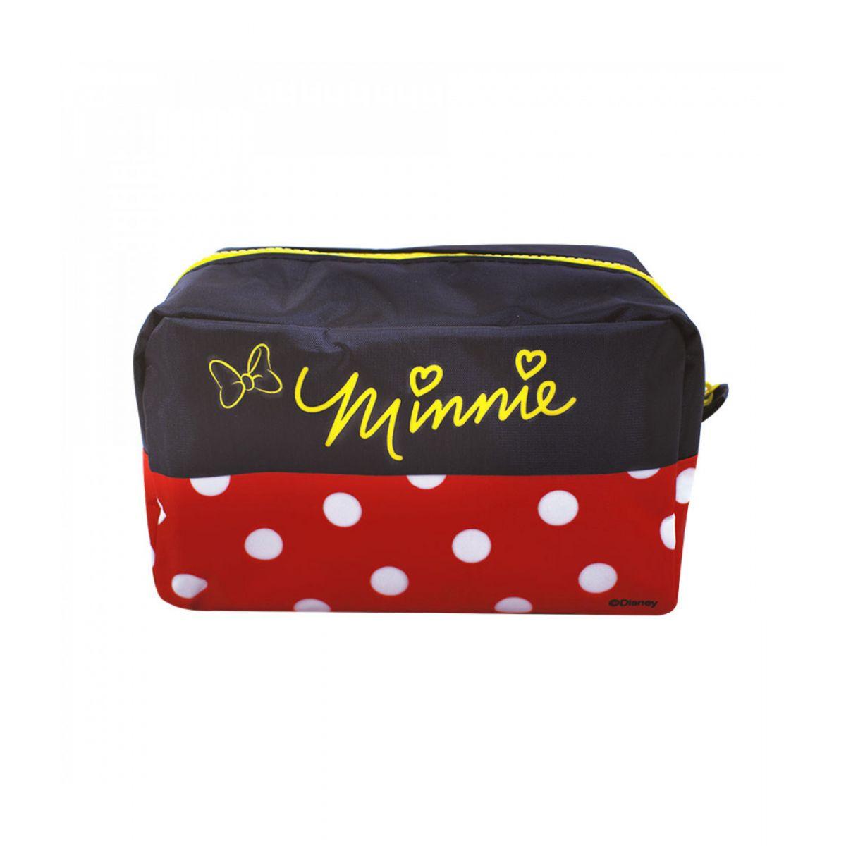 Necessaire Minnie Mouse Preto e Vermelho - Disney