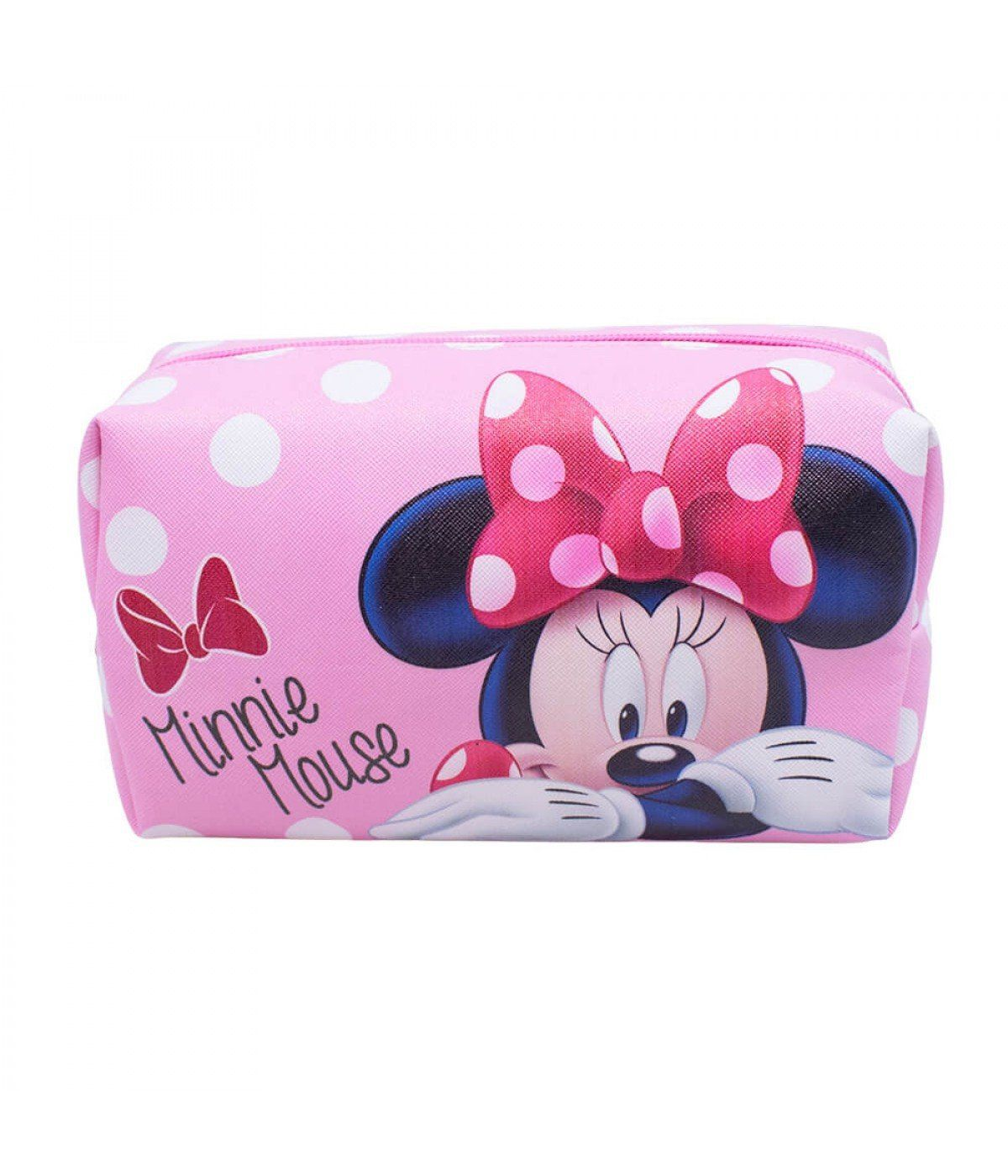 Necessaire Minnie Mouse Rosa e Branco - Disney