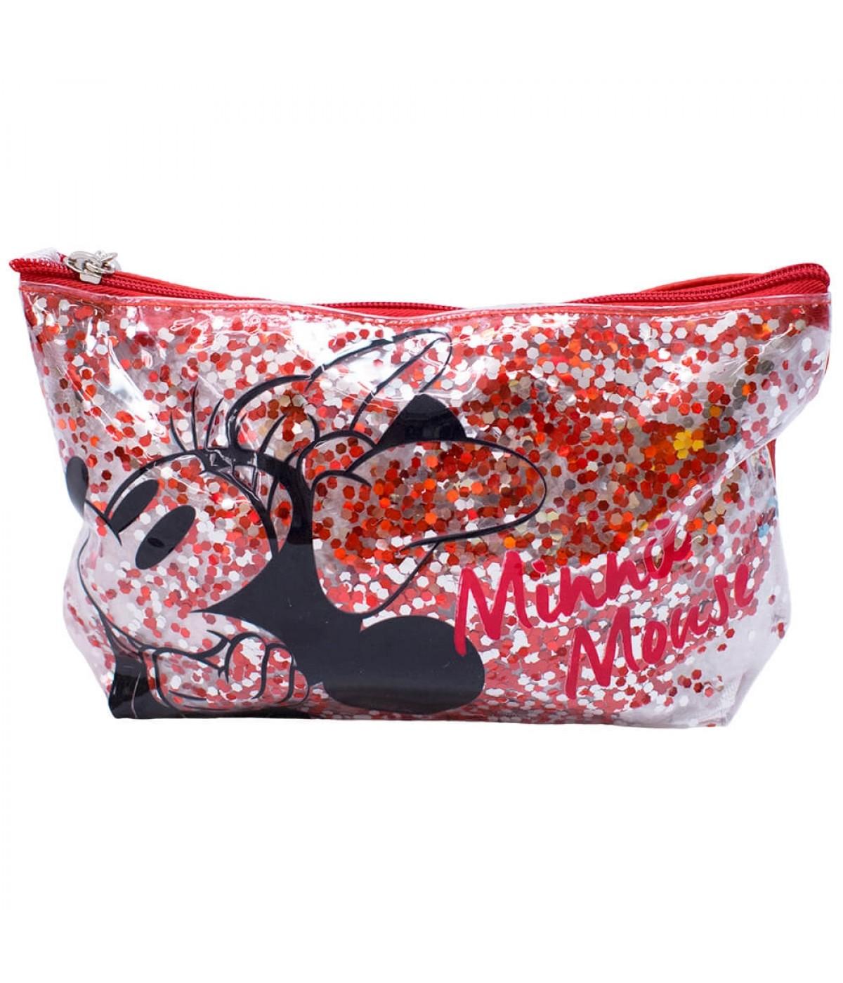 Necessaire Rosto Minnie Mouse (Brilho): Mickey e Minnie Mouse - Disney