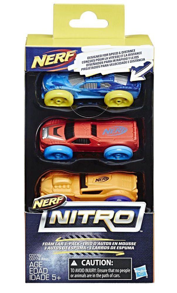 Nerf Carros (Refil) Nerf Nitro (Pack com 3) - Hasbro