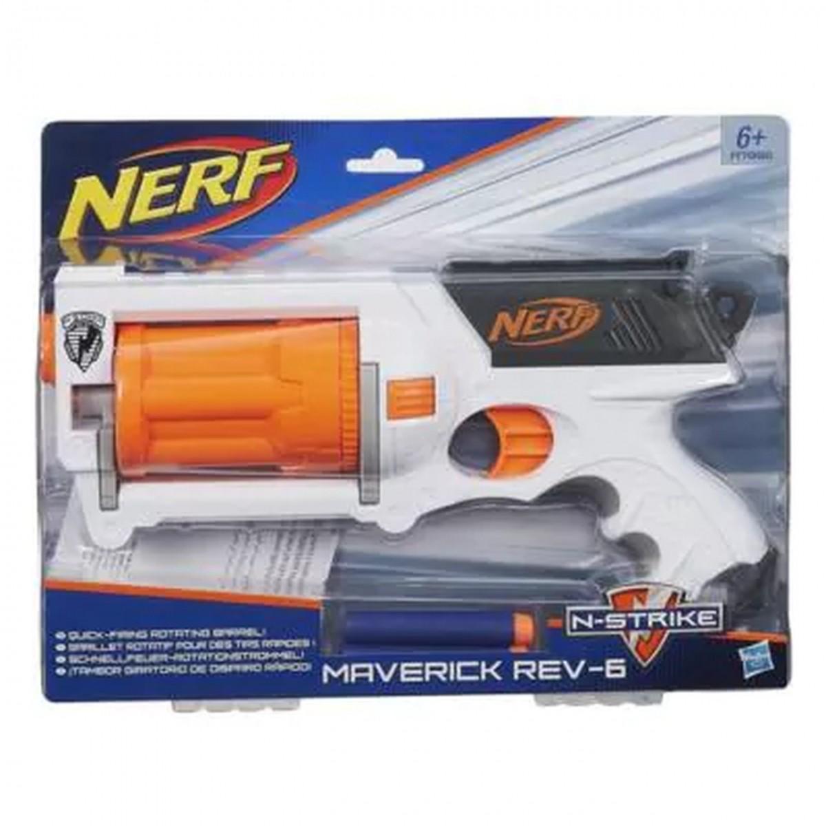 Nerf N-Strike Maverick Rev-6  (Lançador de Dardos)