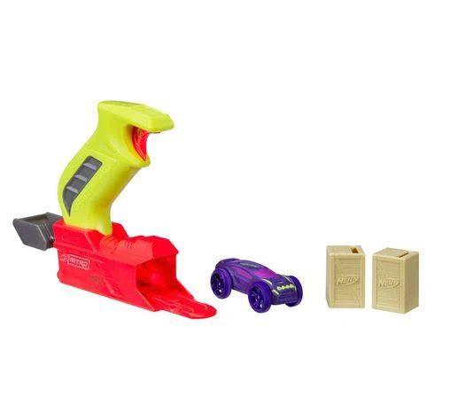Nerf Throttleshot Blitz (Lança Carros) Amarelo - Hasbro