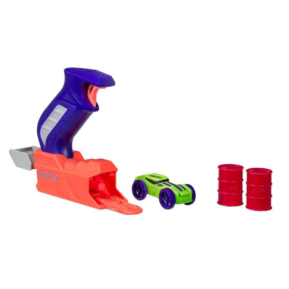 Nerf Throttleshot Blitz (Lança Carros) Azul - Hasbro