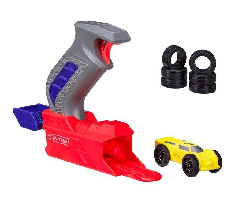 Nerf Throttleshot Blitz (Lança Carros) Cinza - Hasbro