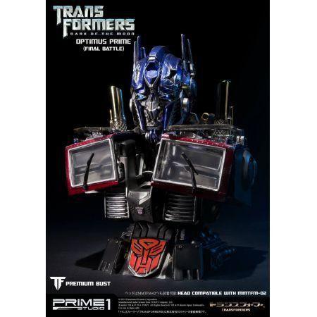 Optimus Prime Final Battle Transformers: Dark of The Moon Bust - Hasbro