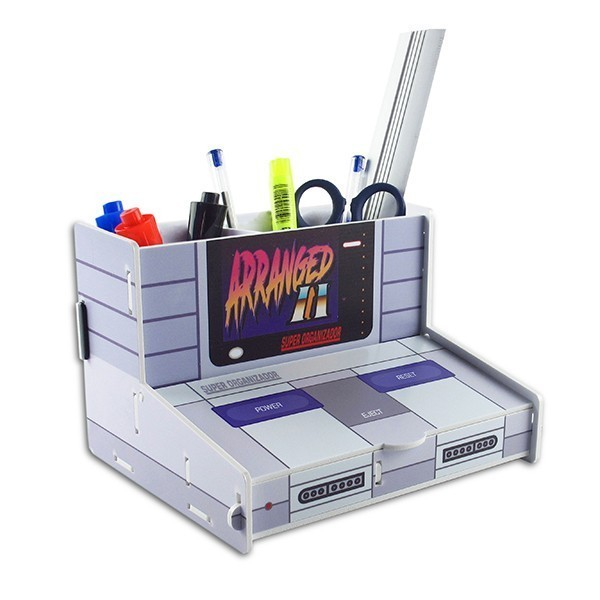 Organizador de Escritório Console: Super Nintendo - Fábrica Geek