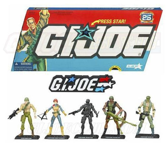 Pack 5 Bonecos G.I. Joe (25th Anniversary) - Hasbro - CG