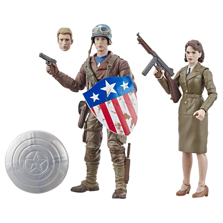 Pack Action Figure Capitão América (Captain America) & Peggy Carter: Marvel Legends (Marvel 80th Anniversary) - Hasbro
