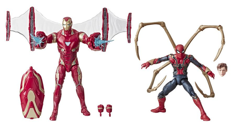 Pack Action Figure Homem de Ferro (Iron Man Mark 50) & Aranha de Ferro (Iron Spider): Marvel Legends (Marvel 80th Anniversary) - Hasbro