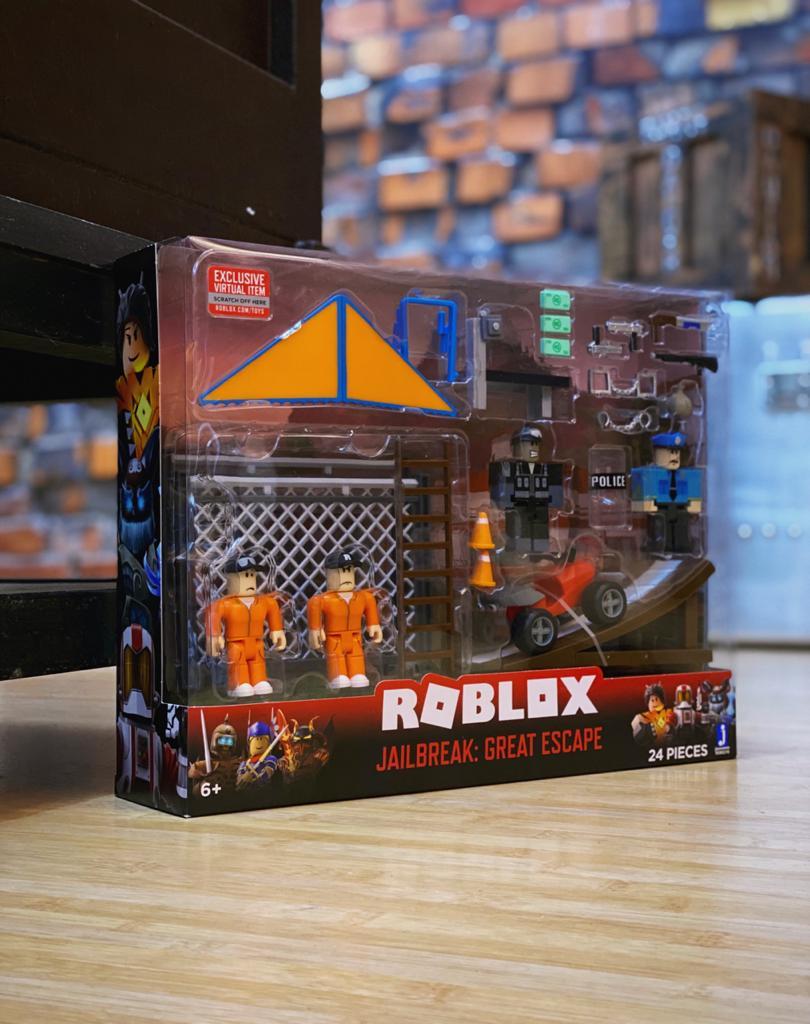 Pack Action Figure Jailbreak: Roblox Great Escape 24 Peças - Sunny