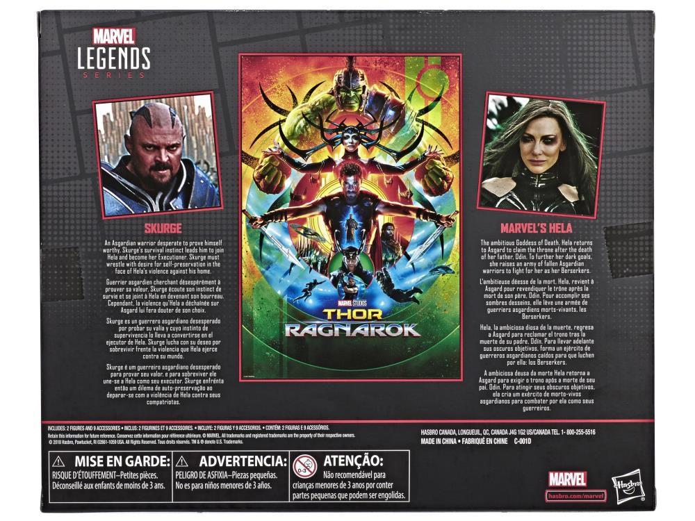 Pack Action Figure Skurge & Hela: Marvel Legends (Marvel 80th Anniversary) - Hasbro