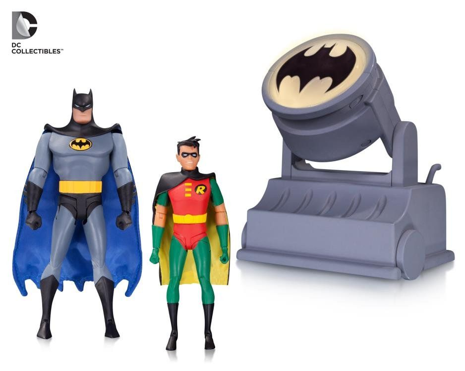 Pack Bonecos Batman e Robin com BatSinal: Batman The Animated Series - DC Collectibles