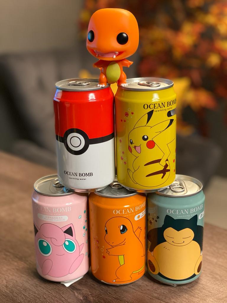Pack Coleção Ocean Bomb: Pokémon (Refrigerante Colecionável) (Pikachu) (Pokebola) (Snorlax) (Charmander) (Jigglypuff)