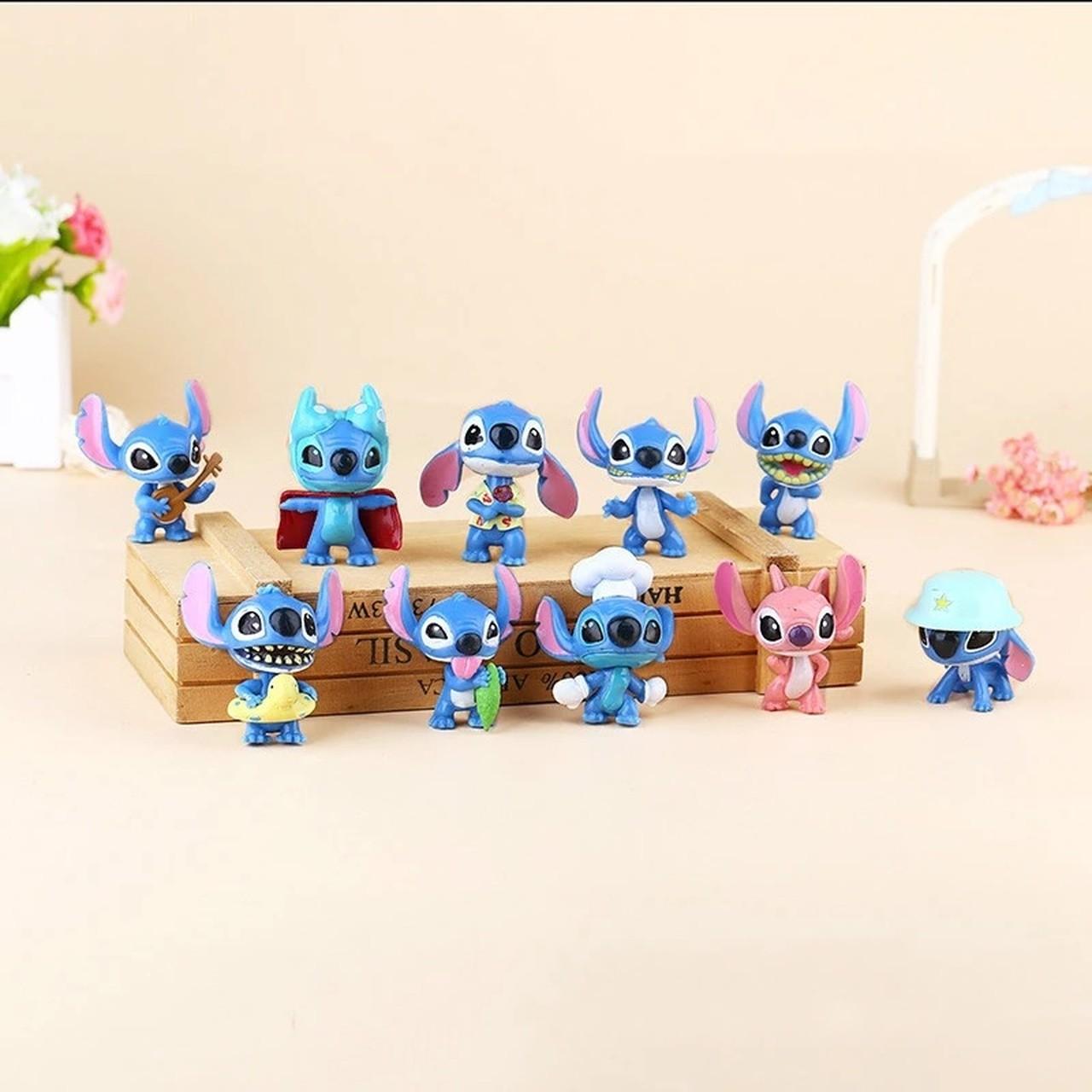 Pack Com 10 Mini Figuras Stitch: Lilo & Stitch  Escala 1/60 - Disney - MKP