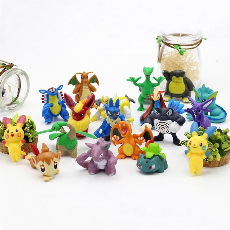Pack Com 24 Mini Figuras Pokémon Sortidos
