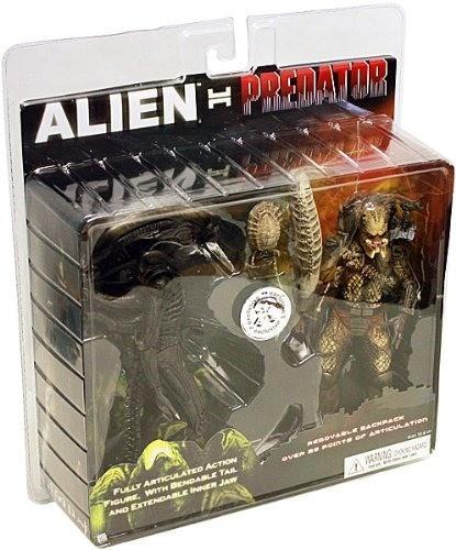 Pack Com 2 Action Figure Alien Vs. Predator 2 - Neca