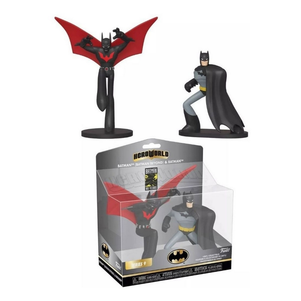 Pack com 2 Bonecos Batman Beyond & Batman : Funko Dc Series Hero World Serie 9 - Funko