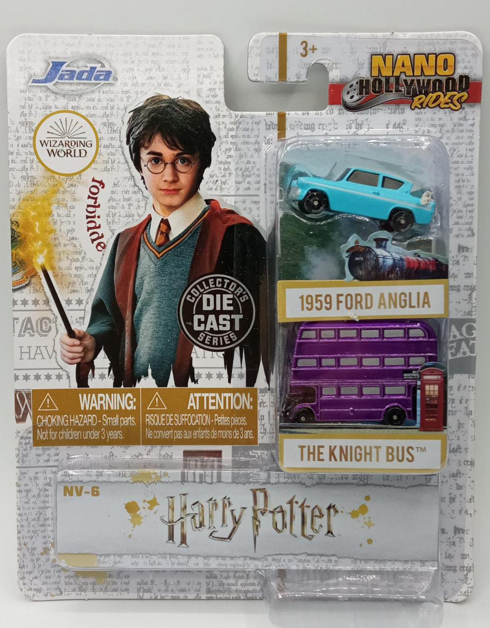 Pack Com 2 Nano Carrinhos Harry Potter Escala 1/64 - Jada Toys
