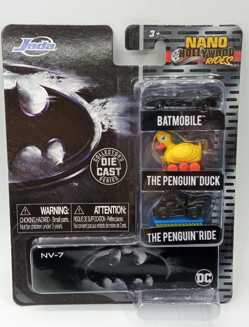 Pack Com 3 Nano Carrinhos Batman:DC Comics Escala 1/64 - Jada Toys