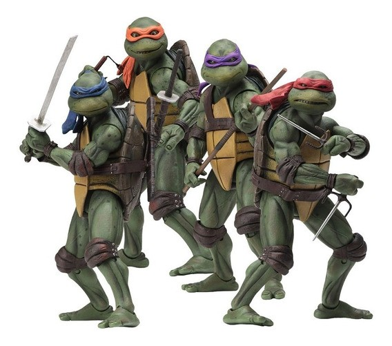 Pack Com 4 Action Figure Tartarugas Ninjas: Teenage Mutant Ninja Turtles - Neca