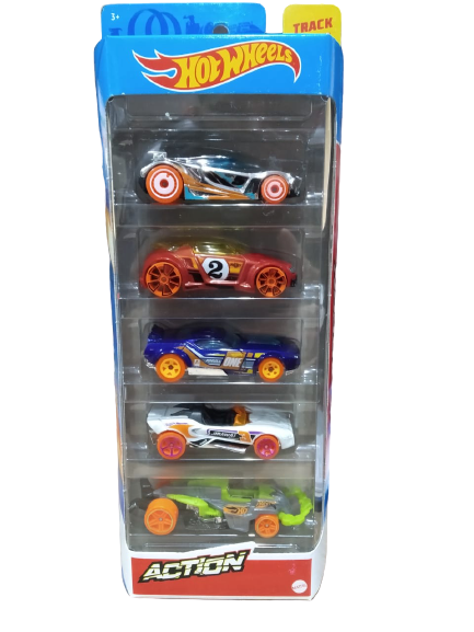 Pack Com 5 Carrinho Hot Wheels: Action - Mattel