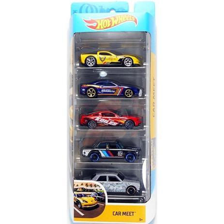 Pack Com 5 Carrinho Hot Wheels: Car Meet - Mattel