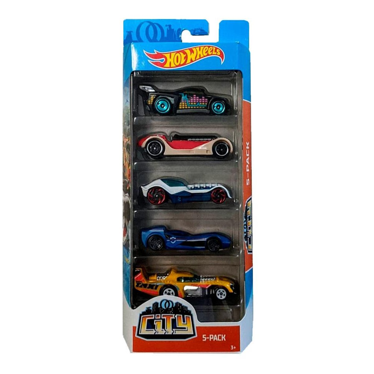 Pack Com 5 Carrinho Hot Wheels: City - Mattel