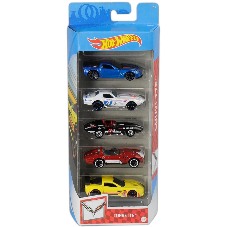 Pack Com 5 Carrinho Hot Wheels: Corvette - Mattel