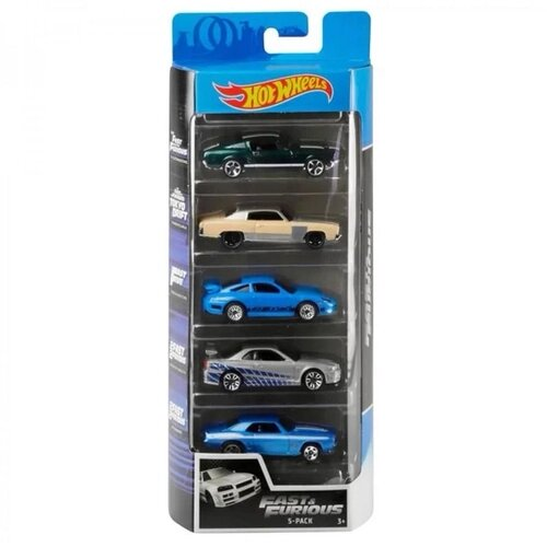 Pack Com 5 Carrinho Hot Wheels: Fast & Furious - Mattel