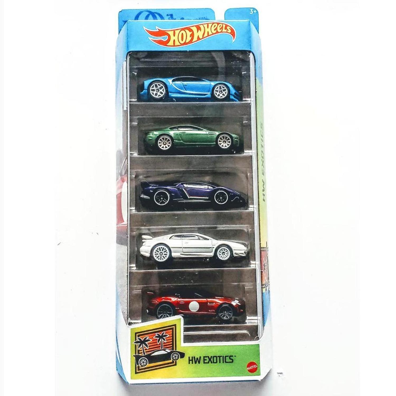 Pack Com 5 Carrinho Hot Wheels: Hw Exotics - Mattel