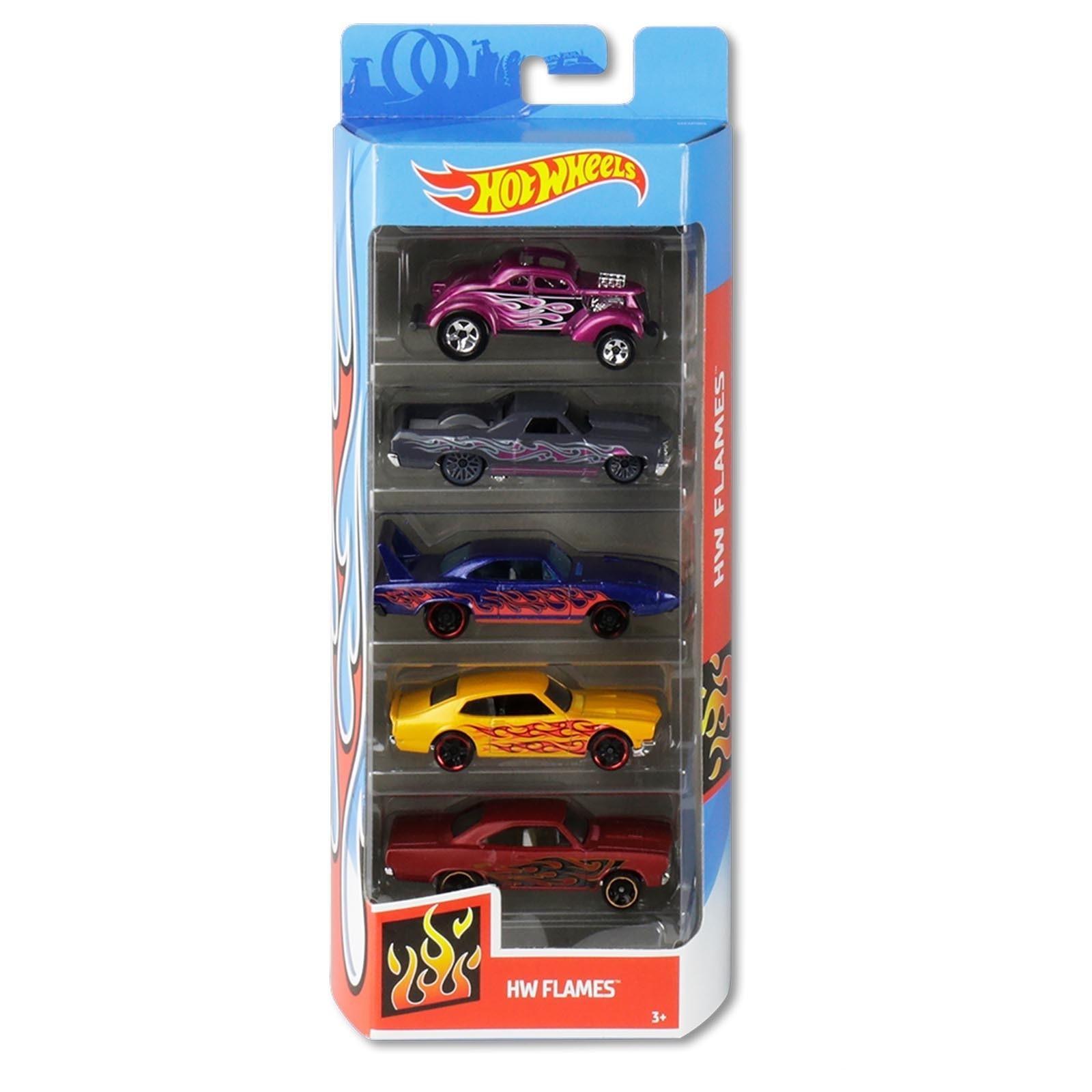 Pack Com 5 Carrinho Hot Wheels: Hw Flames - Mattel