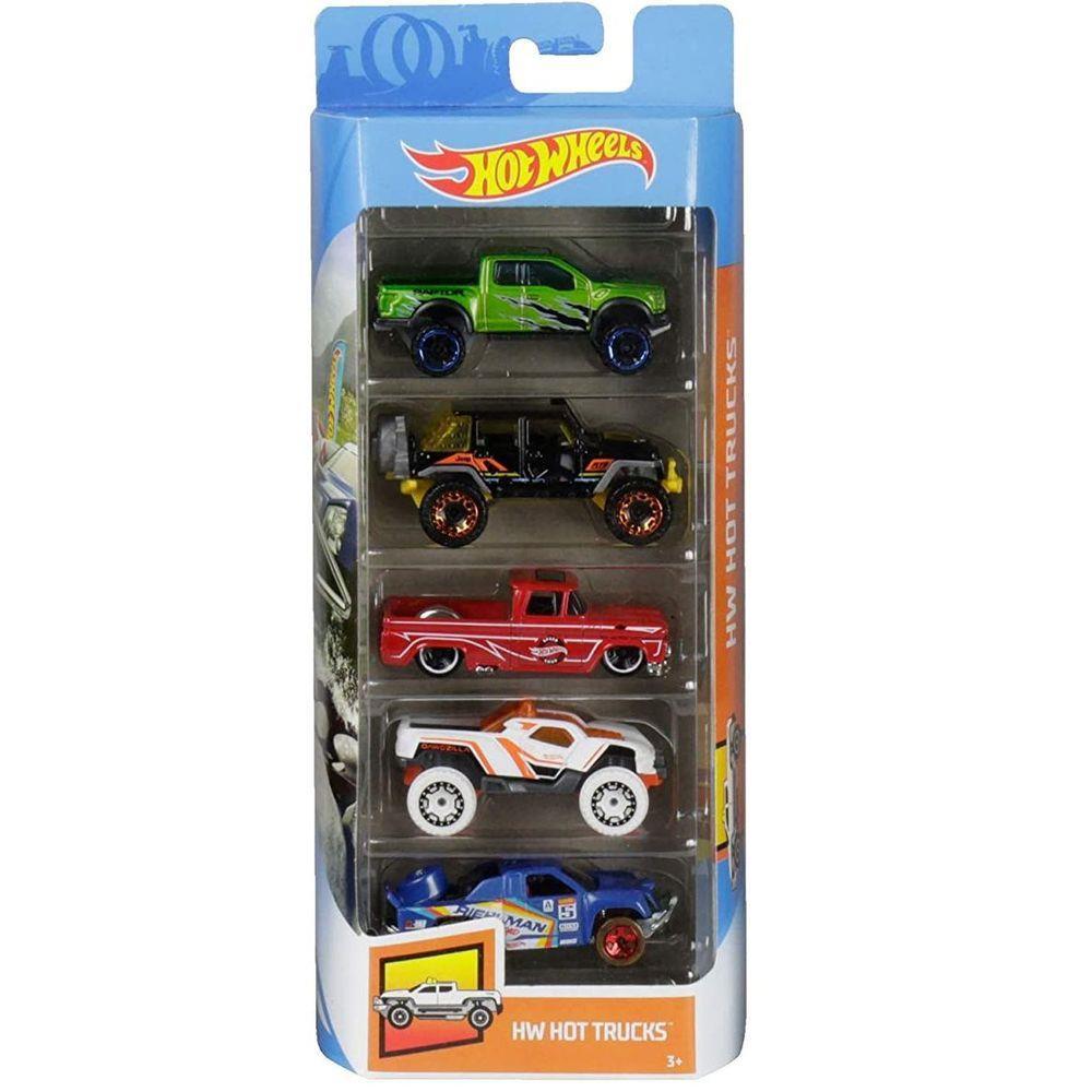 Pack Com 5 Carrinho Hot Wheels: Hw Hot Trucks - Mattel