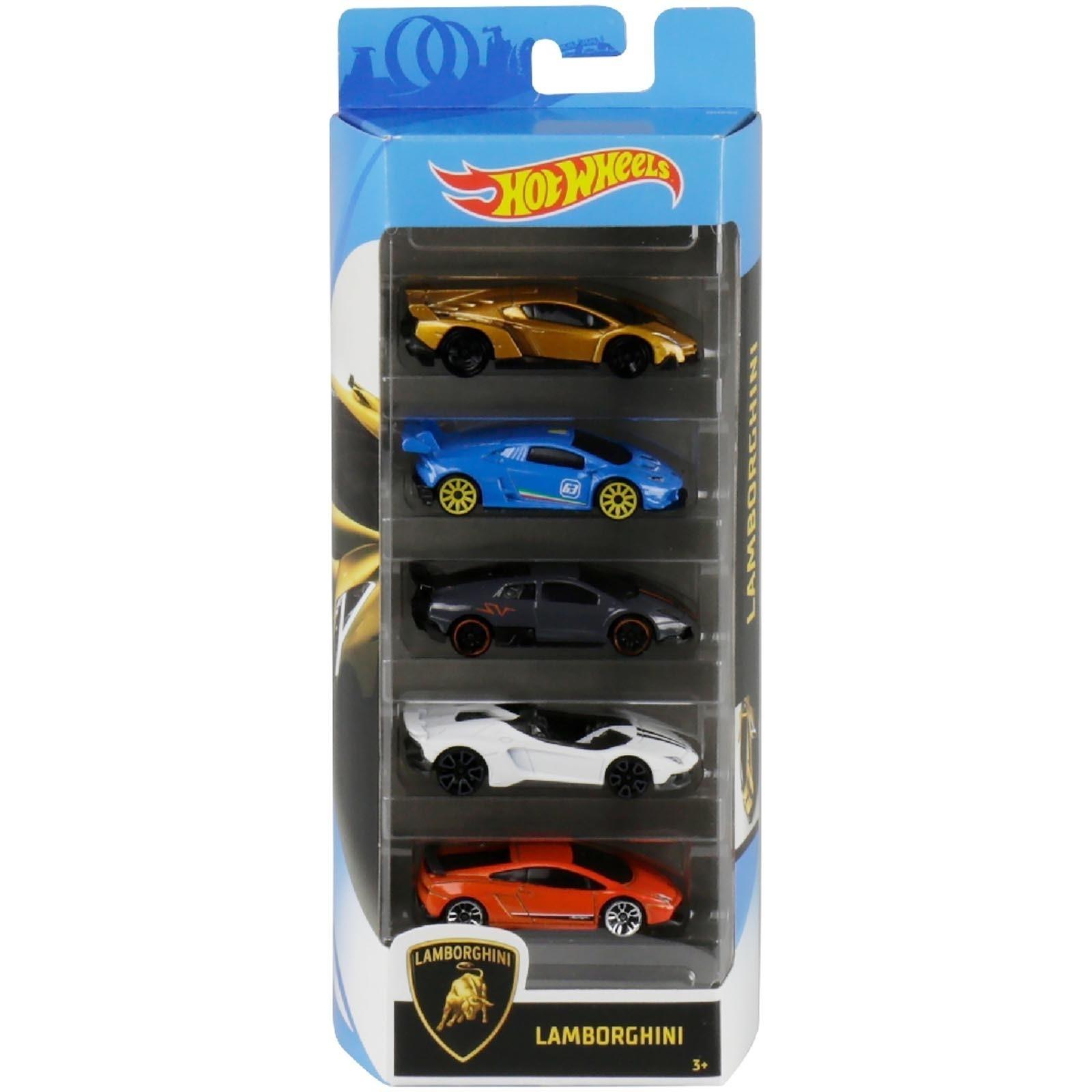 Pack Com 5 Carrinho Hot Wheels: Lamborghini - Mattel