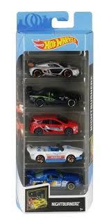 Pack Com 5 Carrinho Hot Wheels: Nightburnerz - Mattel