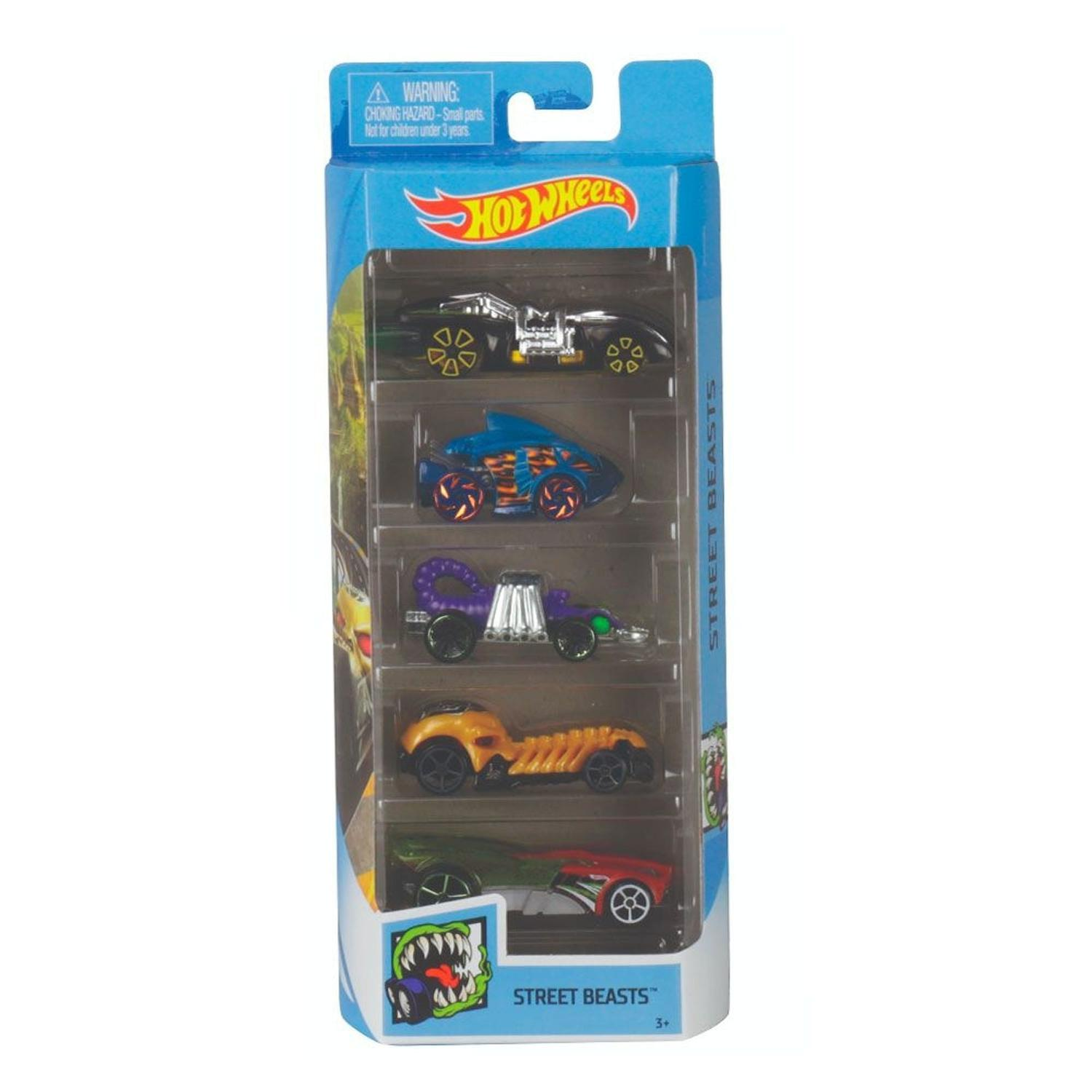 Pack Com 5 Carrinho Hot Wheels: Street Beasts - Mattel