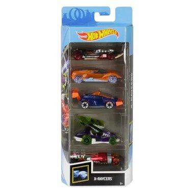 Pack Com 5 Carrinho Hot Wheels: X-Raycers - Mattel