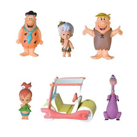 Pack Com 6 Mini Estátuas Decorativas Personagens Os Flintstones The Flintstones - Hanna Barbera