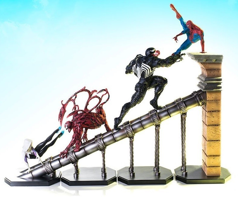PRÉ VENDA: Pack Diorama Homem-Aranha (Spider-Man) Batalha: Marvel Comics (BDS) (by Raphael Albuquerque) Escala 1/10 - Iron Studios