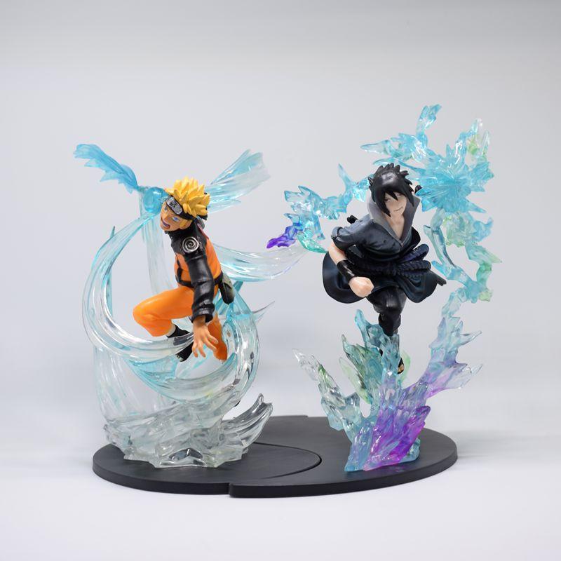 Pack Estátua Sasuke Uchiha Chidorie Naruto Uzumaki Sharingan: Naruto Shippuden - MKP