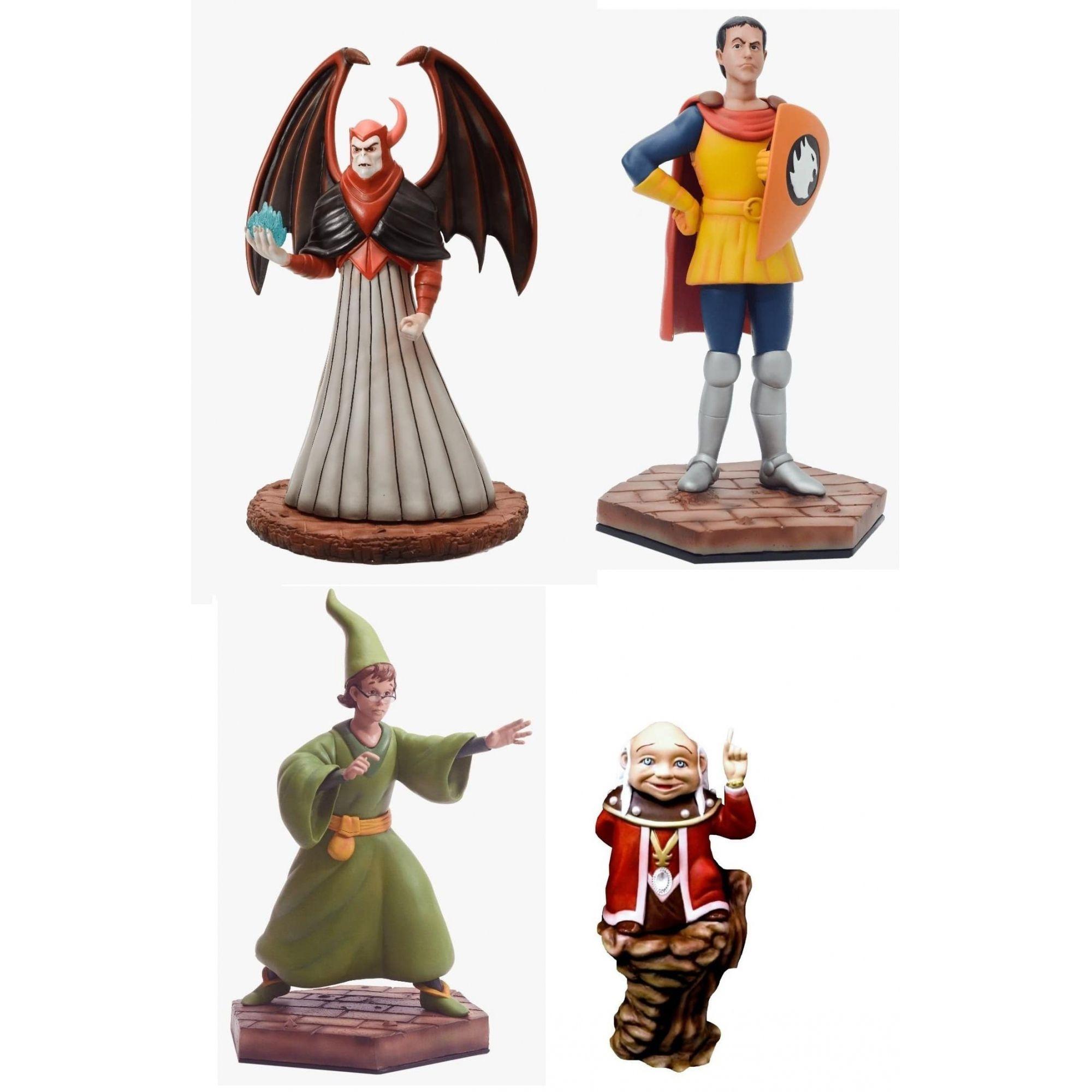 Pack Estátuas Caverna do Dragão (Dungeons e Dragons) (Set de 4)