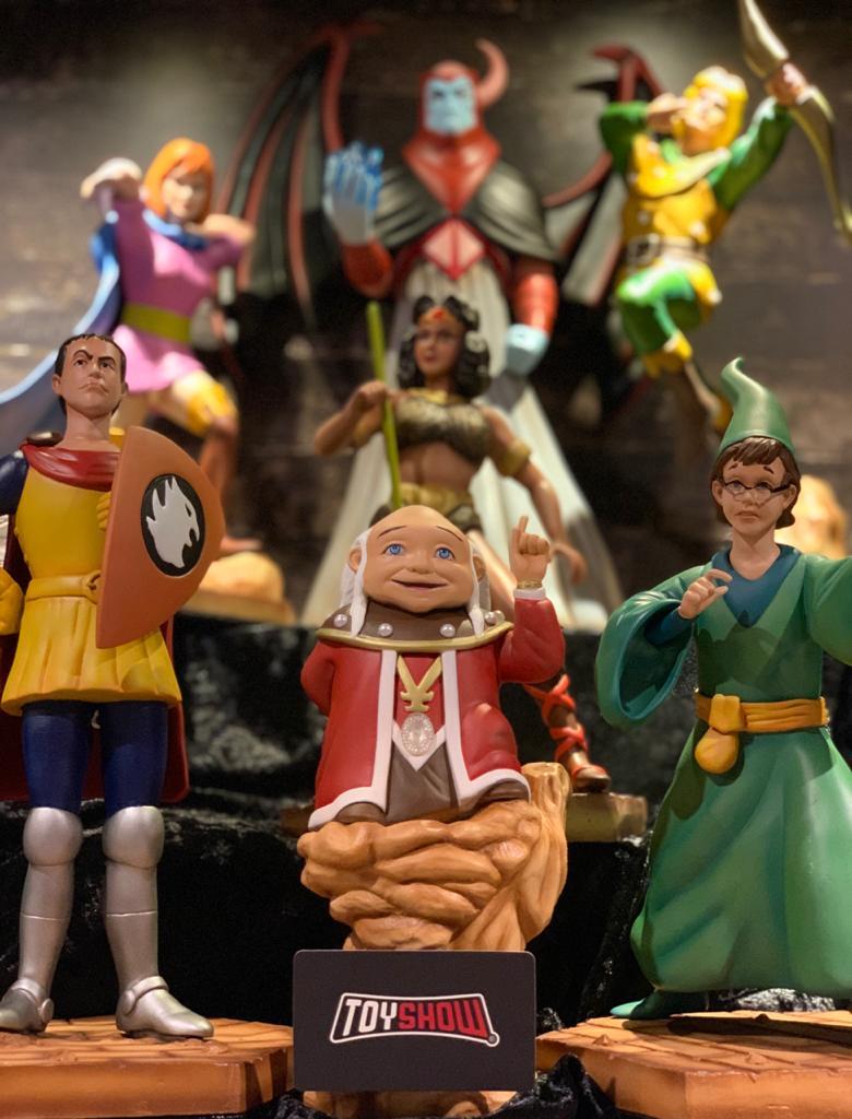 Pack Estátuas Caverna do Dragão (Mestre dos Magos, Vingador, Hank, Sheila, Presto, Diana e Eric) Set de 7