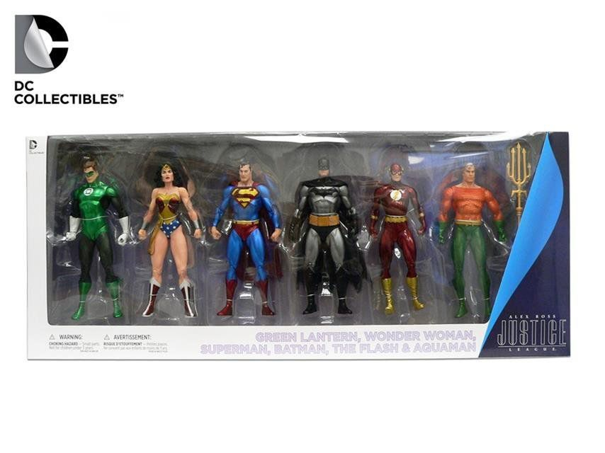 Pack Action Figure Liga da Justiça (Justice League Alex Ross) - DC Collectibles